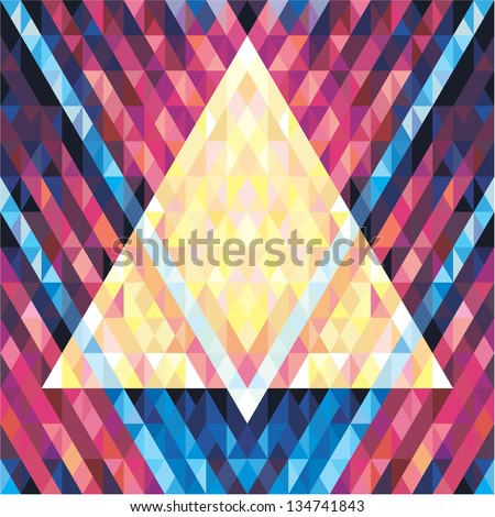 Geometric Background - Vector Seamless Pattern - Music Flyer & Poster 02 - stock vector