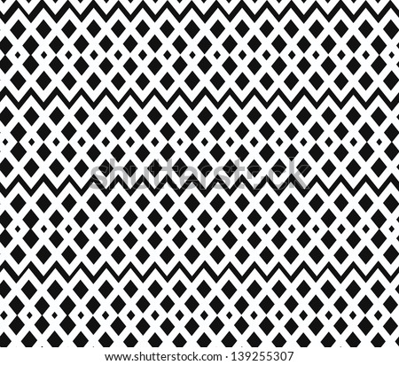 Geometric black and white seamless pattern. Netting structure. Abstract contour background - stock vector