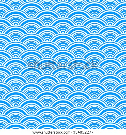 Geometric blue seamless pattern. Vector - stock vector