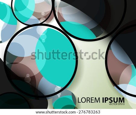 geometric circle shape overlapping frame outline business background eps10 vector - stock vector