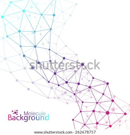 Geometric colorful background. Molecule and communication background. Graphic background for your design and your text. - stock vector
