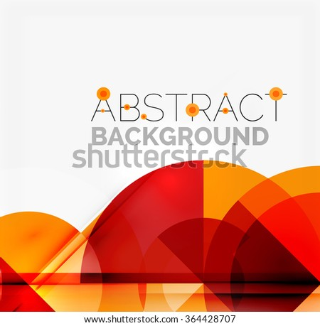 Geometric design abstract background - circles - stock vector