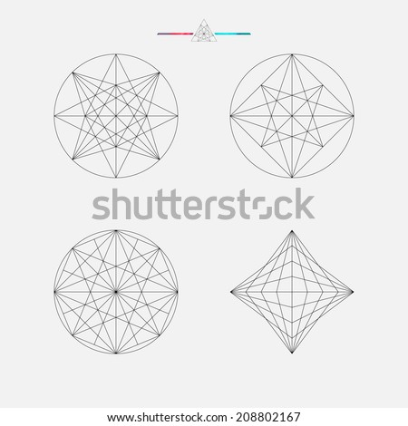 Geometric drawing, circle design, vector illustration - stock vector