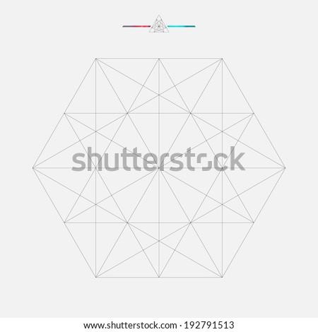 Geometric element, triangle illustration - stock vector