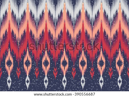 Geometric ethnic oriental ikat seamless pattern traditional Design for background,carpet,wallpaper,clothing,wrapping,Batik,fabric,Vector illustration.embroidery style. - stock vector