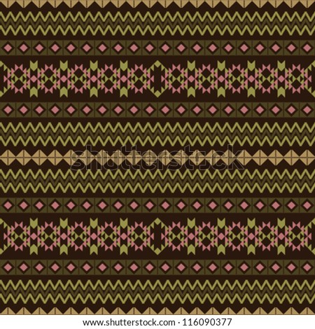 Geometric fabric striped seamless pattern in ethnic style - stock vector