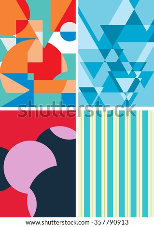 geometric graphic background, abstract vector illustration - stock vector
