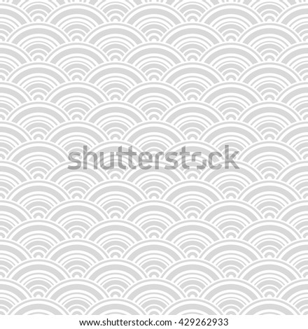 Geometric gray wave seamless pattern. Vector - stock vector