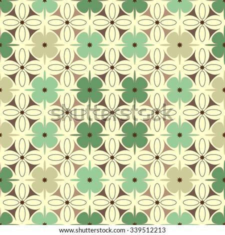 Geometric green pattern seamless - stock vector