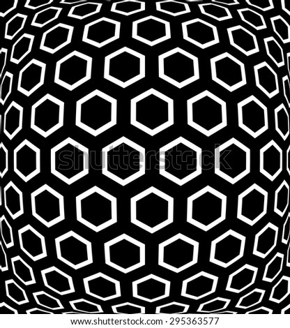 Geometric hexagons pattern. Abstract textured background. Vector art. - stock vector