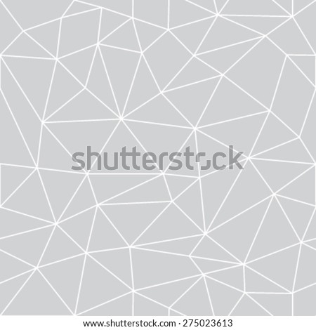 Geometric low poly graphic repeat pattern made out of triangular facets. Vector pattern. - stock vector