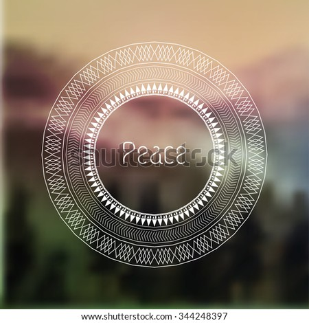 Geometric mandala element made in vector. Vintage decorative elements. Watercolor background. Islam, Arabic, Indian, Tribal motifs. - stock vector