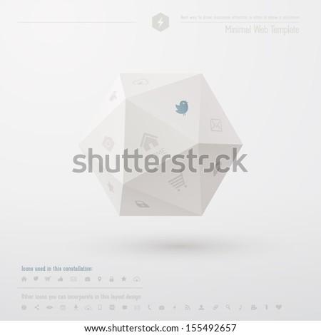 Geometric minimal web template - stock vector