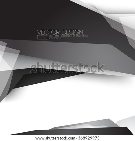 geometric modern black and gray material vector design - stock vector