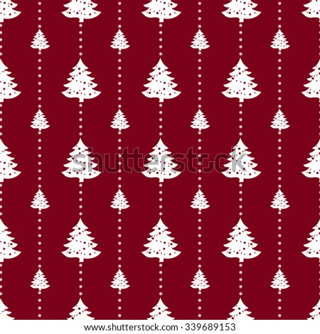 Geometric monochrome seamless pattern. Christmas for winter holidays design with snowflakes. Modern Christmas pattern. - stock vector