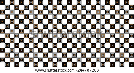 geometric multiple squares abstract pattern background illustration - stock vector