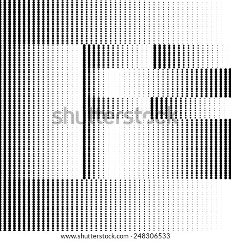 Geometric Optical Illusion Letter F - stock vector
