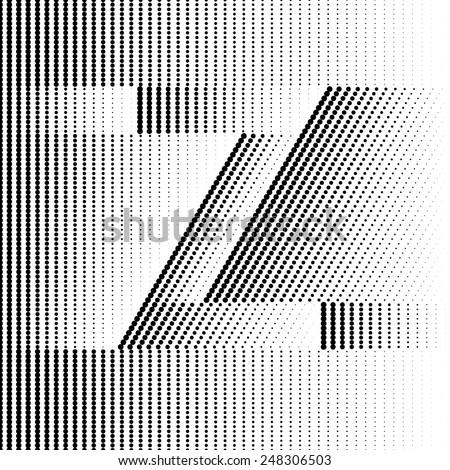 Geometric Optical Illusion Letter Z - stock vector