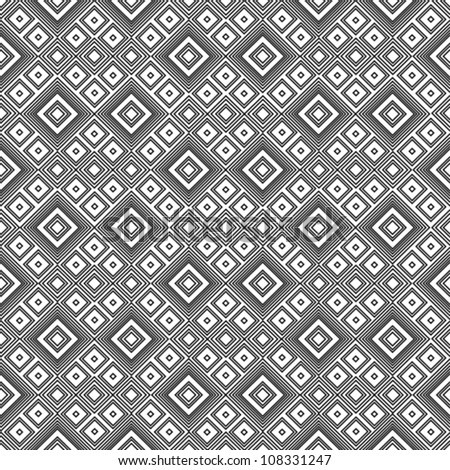 Geometric pattern - black and white - stock vector