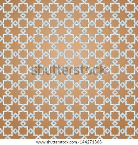 Geometric pattern in Arabian style. Seamless vector background. - stock vector