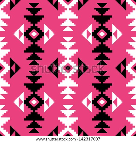 Geometric pattern in ethnic style - stock vector