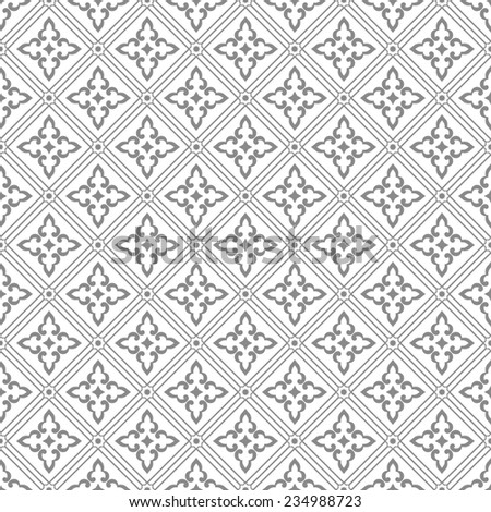 Geometric pattern in the Moroccan and Arabic style. Seamless vector background. Abstract ornament. Gray and white texture. - stock vector