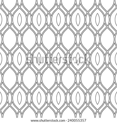 Geometric pattern. Seamless vector texture for backgrounds. Black and white colors - stock vector