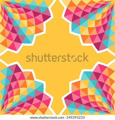 Geometric pattern with diamond shaped figures. Colorful abstract vector background - stock vector