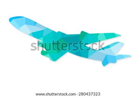 Geometric plane. Vector illustration - stock vector