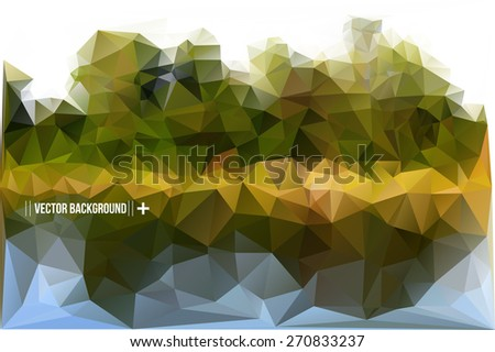 Geometric Polygonal Landscape Vector Illustration - stock vector