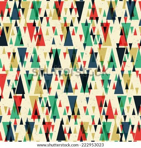 Geometric retro seamless pattern. Vector - stock vector