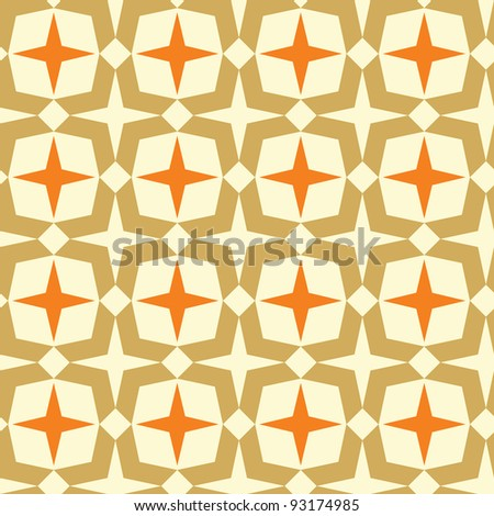 Geometric seamless abstract pattern. Colorful vector illustration - stock vector
