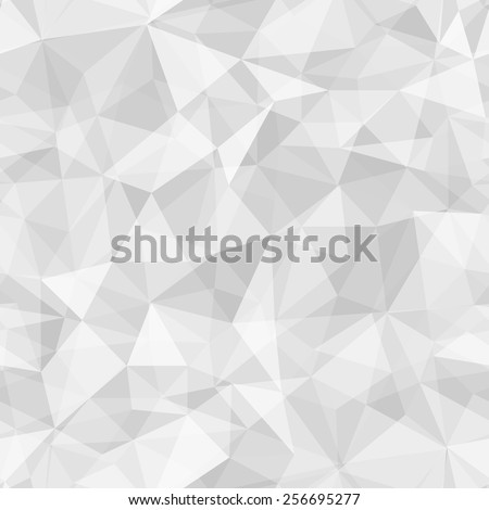 Geometric seamless pattern  from triangles. Light grey vector illustration. - stock vector