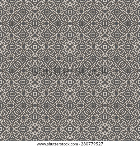 Geometric seamless pattern in arabian style. Can be used for backgrounds and page fill web design. Vector illustration. - stock vector