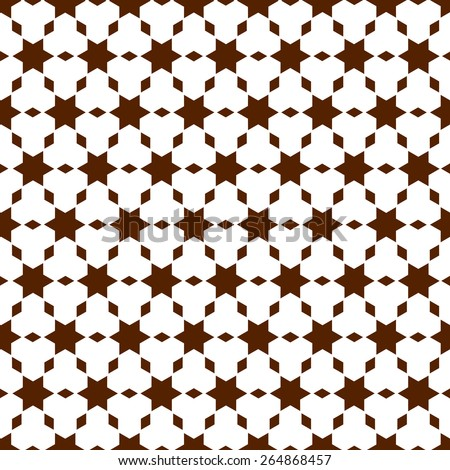 Geometric seamless pattern in islamic style. Vector background - stock vector