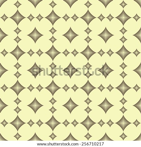 Geometric seamless pattern with diamonds  - stock vector