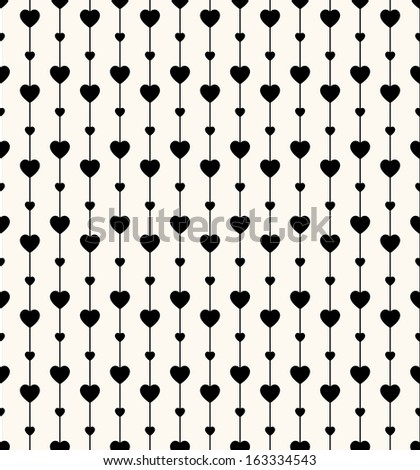 Geometric seamless pattern with hearts and circles. Can be used for wallpaper, pattern fills, web page background,surface textures - stock vector