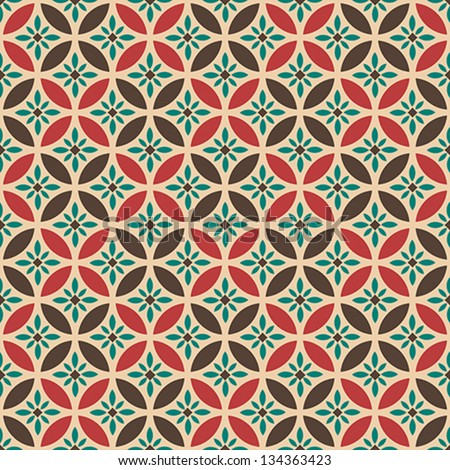 Geometric Seamless Vector Pattern. Abstract background. Vintage pattern. Retro pattern - stock vector
