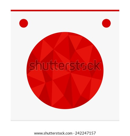 Geometric shape from triangles. Circle - vector illustration. - stock vector