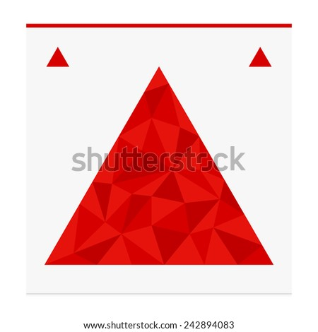 Geometric shape from triangles. Triangle - vector illustration. - stock vector