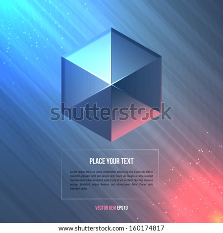 Geometric shape. Vector illustration. - stock vector