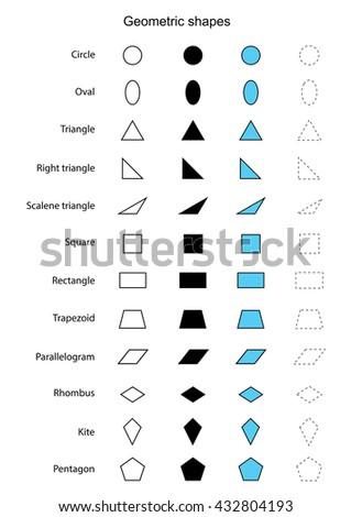 geometric shapes vector - stock vector