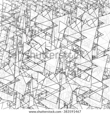 Geometric simple black and white minimalistic pattern, triangles. Can be used as wallpaper, background or texture.  - stock vector