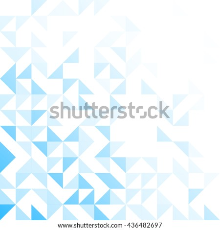 Geometric simple minimalistic background. Triangles pattern - stock vector