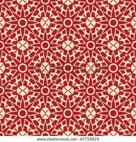 geometric tiled backdrop design - stock vector