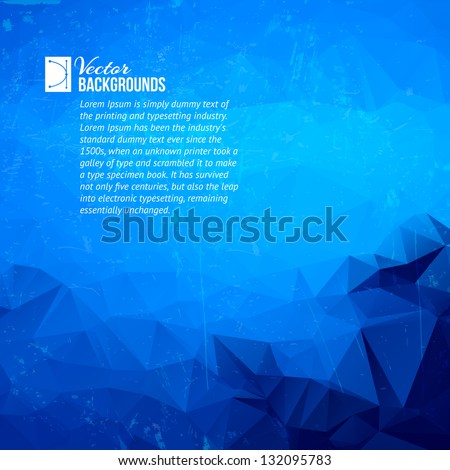 Geometric triangle shapes - stock vector
