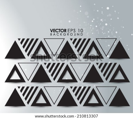 Geometric Triangles Background Eps 10 - stock vector