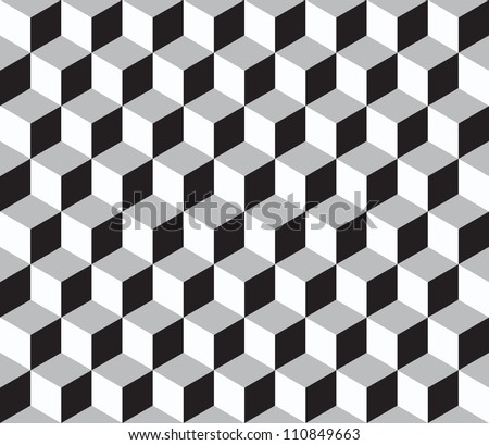 Geometric vector background. Cube shapes. Optical illusion - stock vector