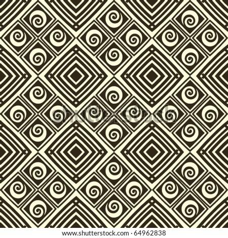 geometric vector pattern, swirling backdrop decoration - stock vector