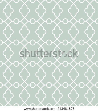 Geometric vector pattern with oriental elements. Seamless background. Abstract texture - stock vector